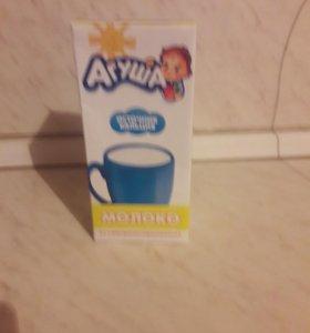 Молоко и фруктовое пюре