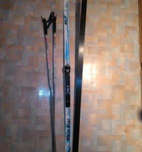 Лыжи+палки детские