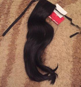 Искусственные волосы на заколке