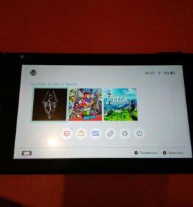 Nintendo switch + 4 игры
