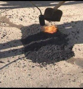 Холодный асфальт для ремонта тротуаров