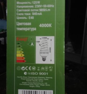 Энергосберегающая лампа E 40