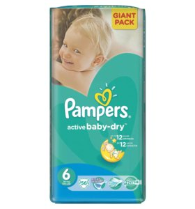 Pampers active baby-dry #6
