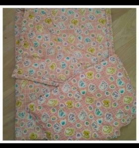 детское одеялко и подушечка