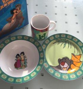 Набор детской посуды Маугли