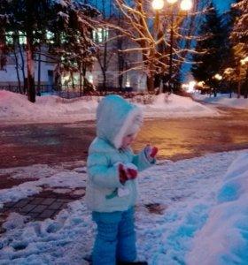 Костюм Зима❄шапочка в подарок и рукавичк