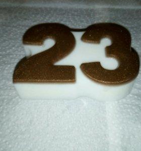 23февраля, мыло ручной работы