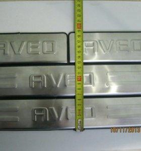 Накладки порогов AVEO T 300 SONIC