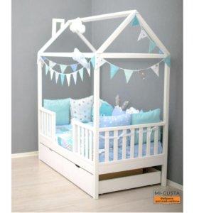 Детская кровать домик «Lumi» 160x80 из сосны