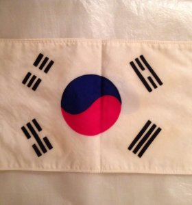 Флаг Южной Кореи. Для. Авто