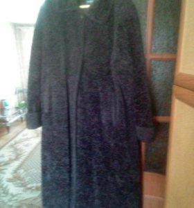 Пальто буклированное, размер 52 - 54