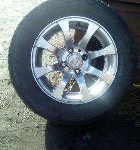 Летние шины+ литые диски