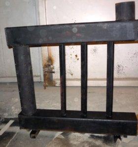 Печка на отработке с водяным контуром. Доставка РФ