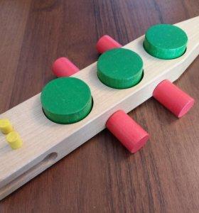 Деревянный крокодил игрушка