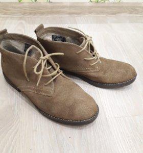 натуральные весенние ботинки
