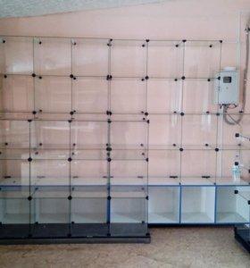 стеклянные витрины 40*40
