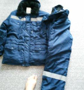 Тёплая куртка с штанами 48-50