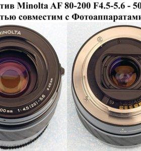 Обмен - Minolta AF Zoom 80-200mm для Sony A