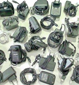 Зарядные блоки питания кабели устройства телефонов