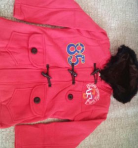 Куртка трикотажная утепленная на рост 128-134