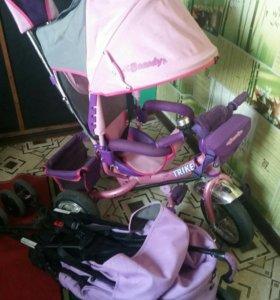 Велосипед для принцессы и прогулочная коляска