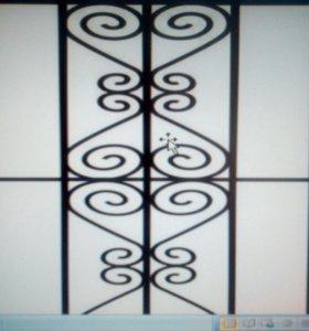 Ажурные оградки, решётки.