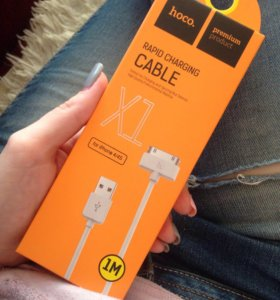 Кабель HOCO RAPID CHARGING CABLE для iPhone 4/4s