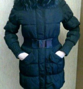 Тёплая зимняя куртка на синтепоне