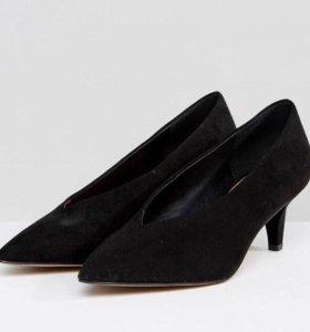 Туфли-лодочки иск.замша новые