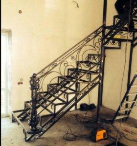 Лестницы из металла на заказ!