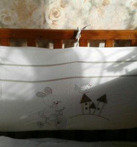 Бортики-барьеры для детской кроватки