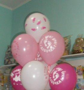 Воздушные шары и фигуры из шаров.