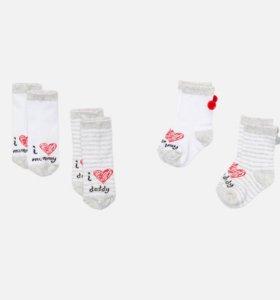 Набор детских носочков с надписью