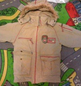весенняя куртка-парка для мальчика