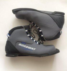 Лыжные ботинки +крепления
