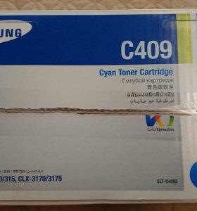 Картридж Samsung CLT-C409S (голубой) - новый