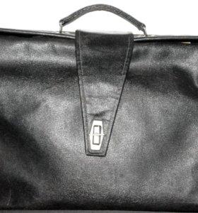 Старинный портфель-саквояж (1940-50 х годов)