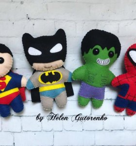 Супергерои из фетра