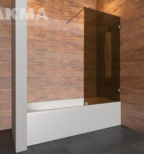 Стеклянная душевая шторка для ванной