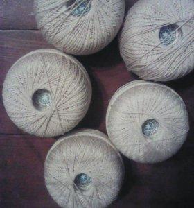 Пряжа (нитки) хлопчатобумажная новая