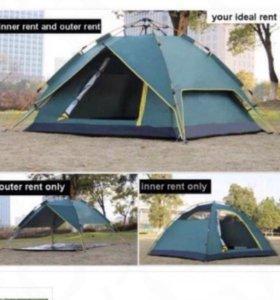 Палатка 3 местная, новая, 2в1 автоматическая