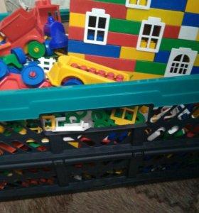 Детское лего, конструктор (см. описание, торг)