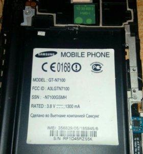 Запчасти на Samsung Galaxy note 2 GT-N7100