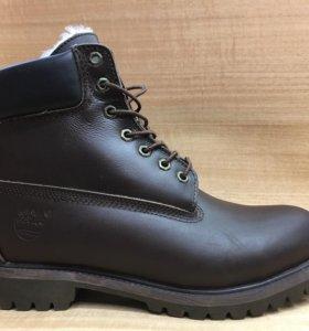 Ботинки Зимние Timberland Мех Кожа Кор.44