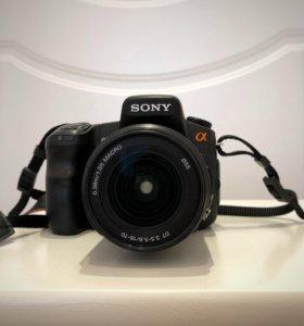 Зеркальный фотоаппарат Sony Alpha DSLR A 200 18-70