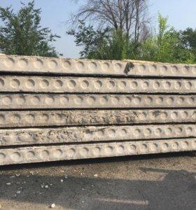 Плиты перекрытия (пустотные) жби б/у 6.3; 5.7 м.