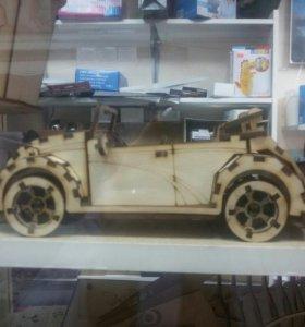 Деревянная модель автомобиль Wolksvagen