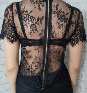 прозрачный жакет блузка s новый