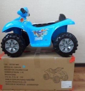 """Новый электромобиль """"Квадроцикл"""" красный, синий"""