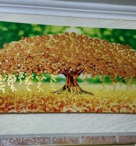 Картина Денежное дерево большая.